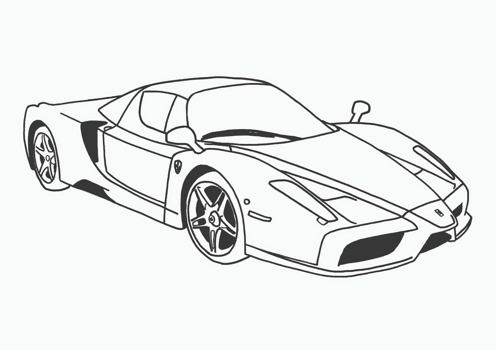 Распечатать раскраску машину