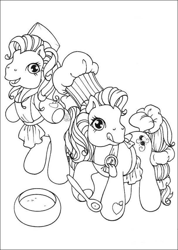 Распечатать раскраску пони