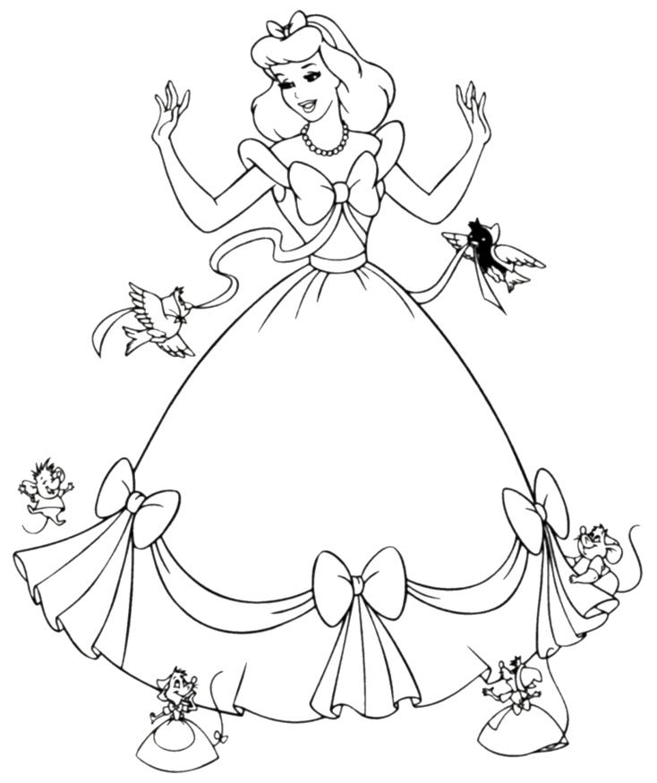 Раскраска для девочек дисней распечатать - 2