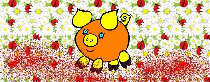 Раскраска свинка